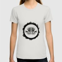 Half Bird Womens Fitted Tee Silver SMALL
