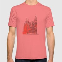 NYC Jefferson Market Library Mens Fitted Tee Pomegranate SMALL