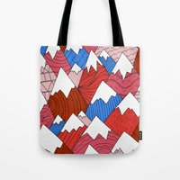 The Red Mountains (Pattern) Tote Bag