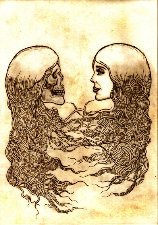Forever entwined  Art Print