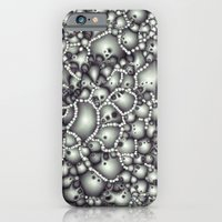 iPhone Cases featuring Microscopic Abstract Shapes by Phil Perkins
