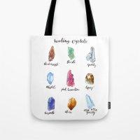 Healing Crystals Tote Bag