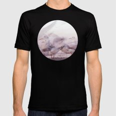 SONGS OF BIRDS | White Seagulls Mens Fitted Tee Black SMALL