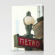 Metro In Paris Stationery Cards