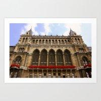 Building in Vienna Art Print