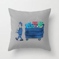 Grammar Police 2 Throw Pillow