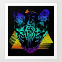 Rad Ocelot Art Print