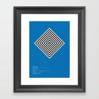 Hambourg Geometric Logo Framed Art Print