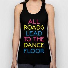 The Dance Floor Music Quote Unisex Tank Top