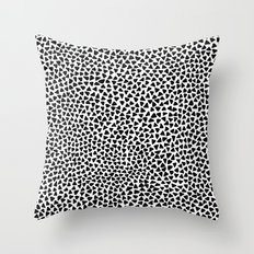 Black Triangles Throw Pillow