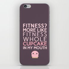 Aaaaand 1...2...3.... stretch your mouth open wide and get that cupcake in there!!! iPhone & iPod Skin