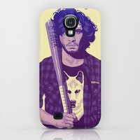 Galaxy S4 Cases featuring GAME OF THRONES 80/90s ERA CHARACTERS - Jon Snow by Mike Wrobel
