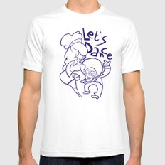 Let's Dance SMALL Mens Fitted Tee White