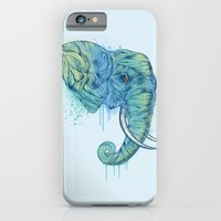 portrait iPhone & iPod Cases featuring Elephant Portrait by Rachel Caldwell