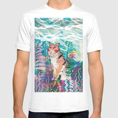 Wonderland White SMALL Mens Fitted Tee