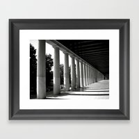 Parthenon Perspective Framed Art Print
