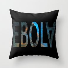 Spacey Ebola Throw Pillow