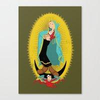 Virgin Olive Oyl Canvas Print