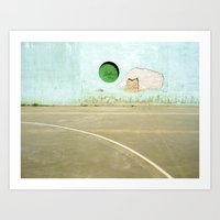 Barcelona Court Art Print