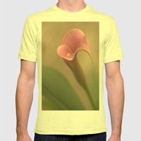 Gratitude Mens Fitted Tee Lemon SMALL