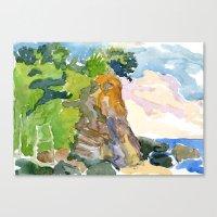 Cliff, Caruao Venezuela Canvas Print