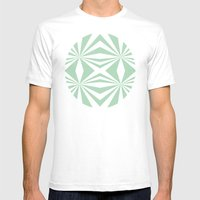 Mint Starburst #2 Mens Fitted Tee White SMALL