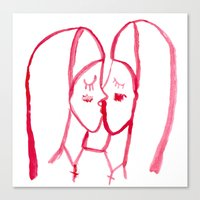 kissing nuns Canvas Print