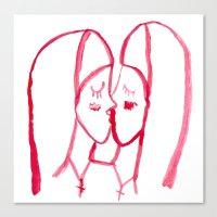 Kissing Nuns Canvas Print