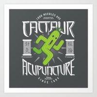 Cactaur Acupuncture Art Print