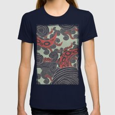SEA ADVENTURE Womens Fitted Tee Navy SMALL