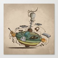 Music Spin Canvas Print