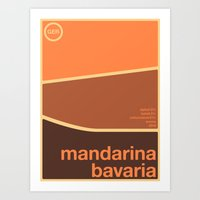 Art Print featuring mandarina bavaria single hop by committee on opprobriations