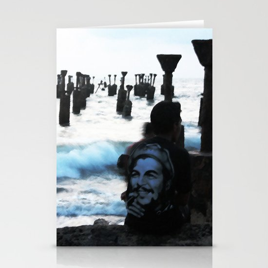 Che by the sea Stationery Card