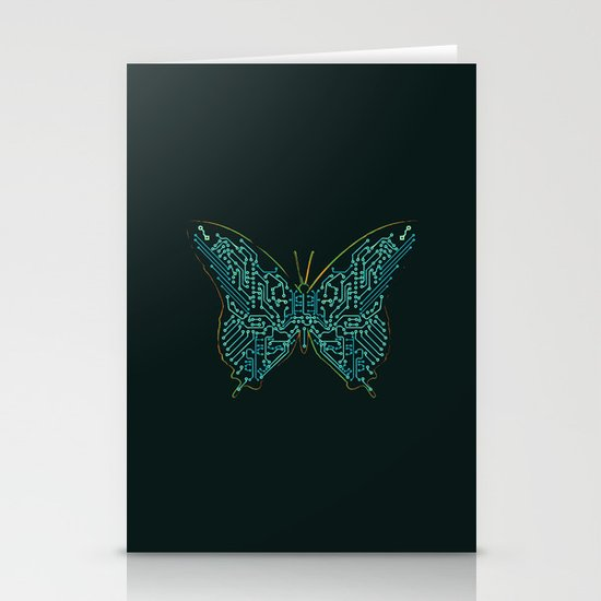 Mechanical Butterfly Stationery Card