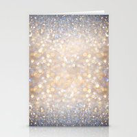 glitter Stationery Cards featuring Glimmer of Light (Ombré Glitter Abstract) by soaring anchor designs