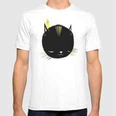 MIGHTY TIGARRR, BLACK KITTEN 묘 SMALL White Mens Fitted Tee