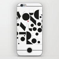 B&W Typography iPhone & iPod Skin