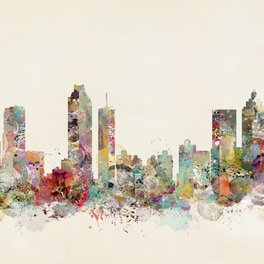 Art Print - Atlanta georgia skyline - bri.buckley