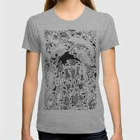 Underwater Life Womens Fitted Tee Athletic Grey SMALL