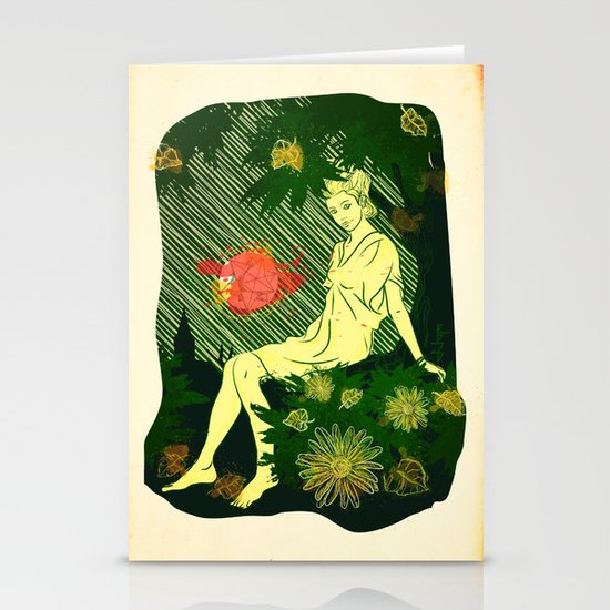 Divina Melancholia Stationery Card
