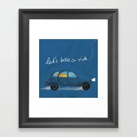 Let's Take A Ride.. Framed Art Print