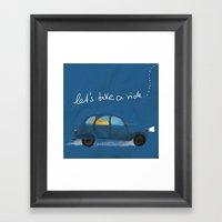 let's take a ride.. Framed Art Print