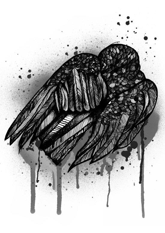 Ravens Sleep Art Print