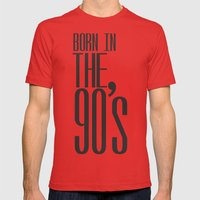 Born in the 90s Mens Fitted Tee Red SMALL