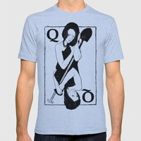 Queen of Spades Mens Fitted Tee Athletic Blue SMALL