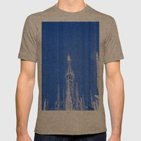 Night of Blue over Milan Mens Fitted Tee Tri-Coffee SMALL
