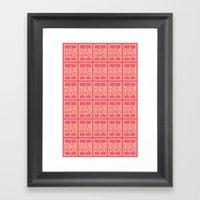 First Class Design. Framed Art Print