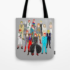 Gray Bowie Group Fashion Outfits Tote Bag