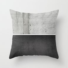 Raw Concrete And Black L… Throw Pillow