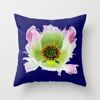 Papaver Somniferum Throw Pillow